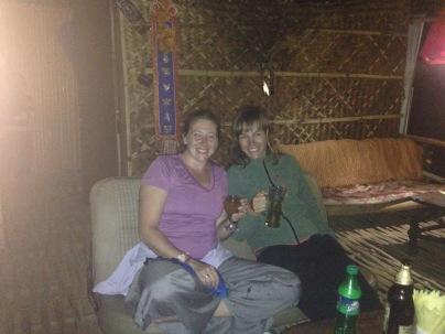 Anja and I at the Tiki Bar