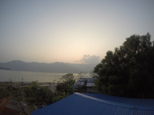 View of the Lake from our Quaint Guesthouse